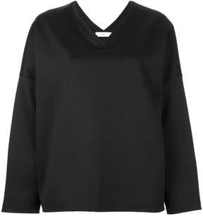 ASTRAET boxy V-neck blouse