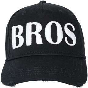 DSQUARED2 Bros Embroidered Canvas Baseball Hat