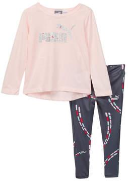 Puma Long Sleeve Shirt & Legging 2-Piece Set (Toddler Girls)