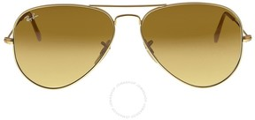 Ray-Ban Aviator Gold Brown Gradient 58mm Unisex Sunglasses 11285