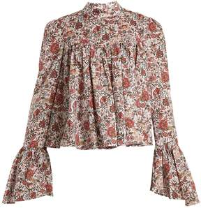 Caroline Constas James floral-print cotton blouse