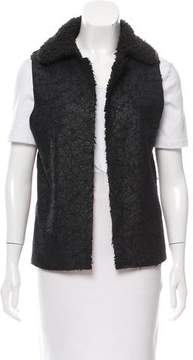 Barena Venezia Textured Faux Shearling Vest