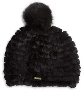 Calvin Klein Faux Fur Knit Beanie