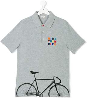 Paul Smith bike print polo shirt