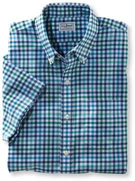 L.L. Bean L.L.Bean Wrinkle-Free Kennebunk Sport Shirt, Slightly Fitted Short-Sleeve Check