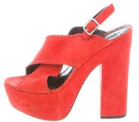 Alice + Olivia Crossover Platform Sandals