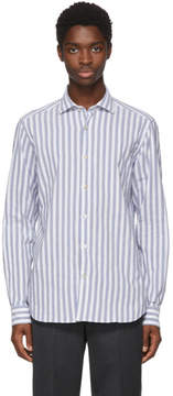 Missoni White and Blue Striped Shirt