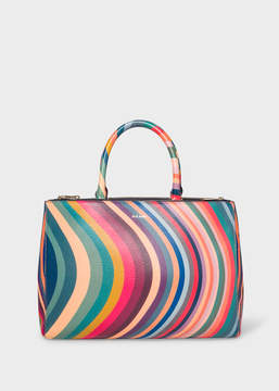 Paul Smith Women's 'Swirl' Print Leather Tote Bag