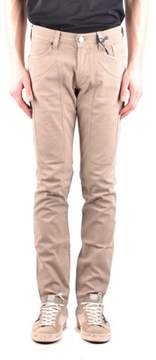 Jeckerson Men's Beige Cotton Jeans.