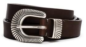 Eleventy Men's Brown Leather Belt.