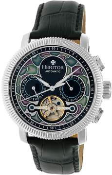 Heritor Aura Automatic Black Dial Men's Watch
