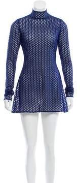 David Koma Embroidered Mesh Dress w/ Tags