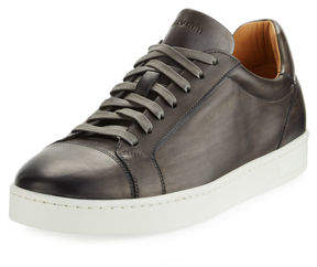 Magnanni Men's Hand Antiqued Distressed Calf Sneakers