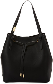 Foley + Corinna Wildheart Large Faux-Leather Drawstring Tote Bag