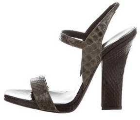 Narciso Rodriguez Snakeskin Multistrap Sandals w/ Tags