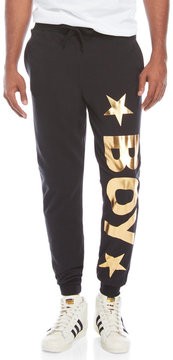 Boy London Metallic Graphic Joggers