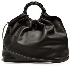 The Row Double Circle Xl Leather Bag - Womens - Black