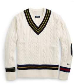 Ralph Lauren The Iconic Cricket Sweater Cream S