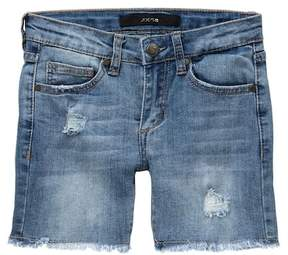 Joe's Jeans Mid Rise Frayed Denim Bermuda Shorts (Big Girls)
