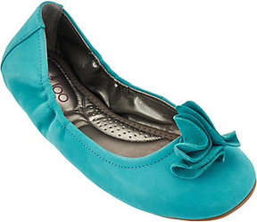 Me Too As Is Leather Ballet Flats w/ Flower Detail - Lexi