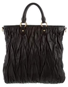 Miu Miu Matelassé Leather Tote