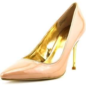 Thalia Sodi Elina Women Pointed Toe Synthetic Nude Heels.