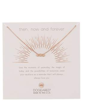 Dogeared Then, Now, & Forever Crystal Small Bar Pendant Necklace