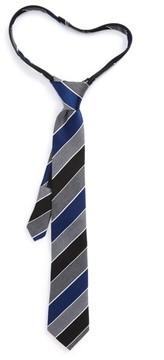 Nordstrom Boy's Stripe Silk Zip Tie