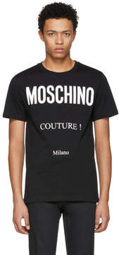 Moschino Black Couture Logo T-Shirt