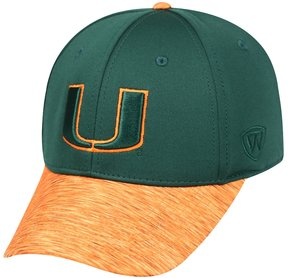 Top of the World Adult Miami Hurricanes Lightspeed One-Fit Cap