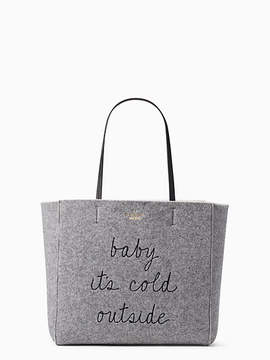 Kate Spade Star bright baby its cold outside tote