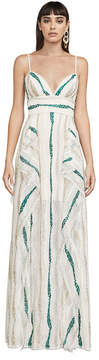 BCBGMAXAZRIA Liliana Tulle Maxi Dress