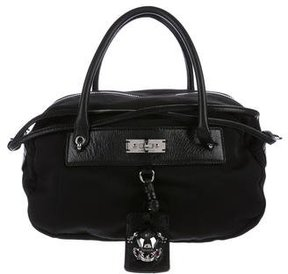 Marc Jacobs Leather-Trimmed Nylon Satchel - BLACK - STYLE