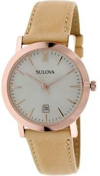 Bulova Classic Chronograph Leather Men's Watch, 97B144