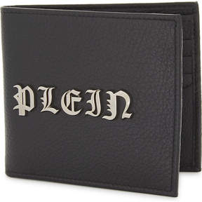 Philipp Plein Gothic leather billfold wallet