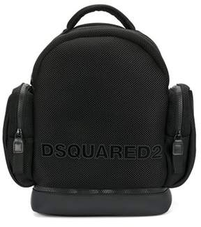 DSQUARED2 Men's Black Polyamide Backpack.