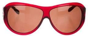 Bvlgari Logo-Accented Shield Sunglasses