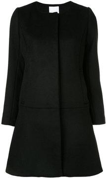 ESTNATION collarless single-breasted coat