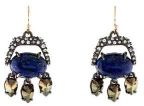 Alexis Bittar Lapis & Pyrite Mini Drop Earrings