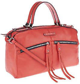 B. Makowsky Campbell Zip Top Leather Satchel