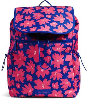 Vera Bradley Art Poppies Lighten Up Drawstring Backpack - ART - STYLE