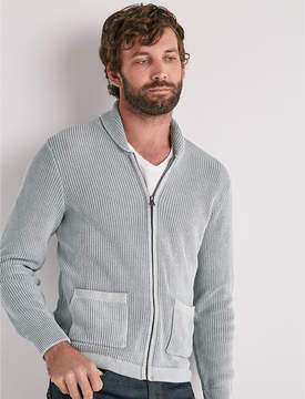 Lucky Brand WASHED OUT ZIP SHAWL CARDIGAN