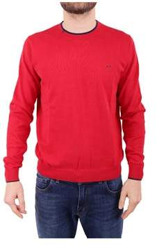 Sun 68 Men's Red Cotton Sweater.