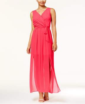 BCX Juniors' Double-Slit Maxi Dress