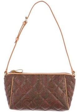 Etro Quilted Leather-Trimmed Shoulder Bag