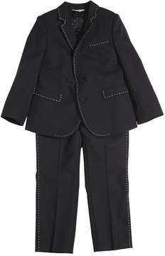 Dolce & Gabbana Wool Suit W/ Contrasting Color Stitching
