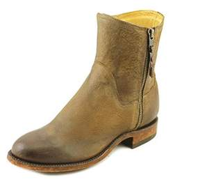 Lucchese Harper Women Round Toe Leather Brown Ankle Boot.