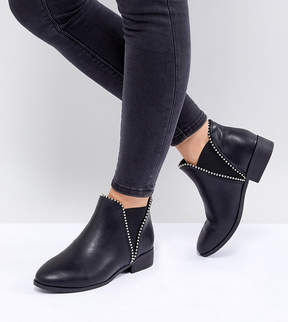 New Look Wide Fit Stud Chelsea Flat Boot