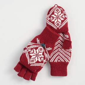 World Market Red Snowflake Convertible Gloves