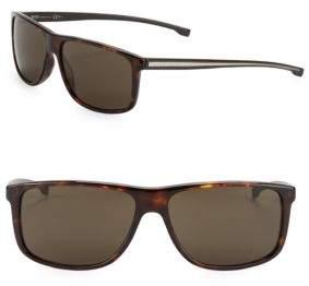 HUGO 60mm Rectangle Sunglasses